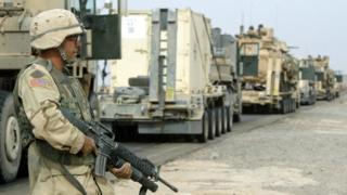 یک سرباز آمریکایی در کرکوک - عکس آرشیوی است