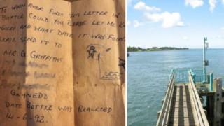 Gwynfor Griffiths' message and a pier