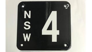 New South Wales state number plate NSW 4