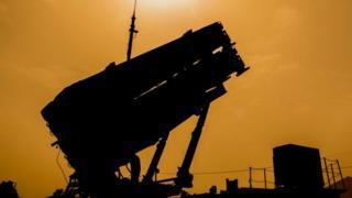 Patriot missile defence system. File photo