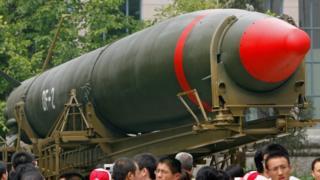 중국의 군사박물관에 전시된 중국의 두 번째 핵미사일