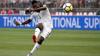 Asamoah Gyan bin score goal foe Ghana v USA match for July