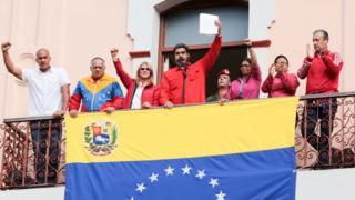 Maduro ayaa ku eedeeyay Mareykanka iney isaga afgambinayaan