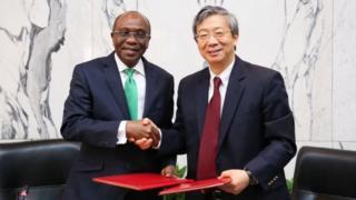 Aworan awọn alase ile ifowopamo Nigeria ati China