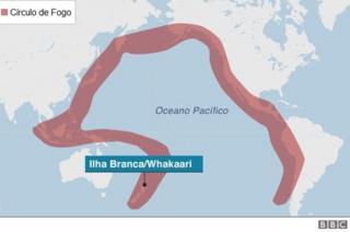 O que é o Círculo de Fogo do Pacífico, onde fica vulcão que matou turistas na Nova Zelândia