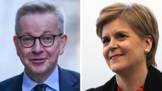 Michael Gove and Nicola Sturgeon