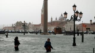 Praça de São Marco inundada