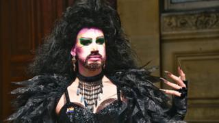 Pride festivalgoer