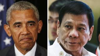 Барак Обама (слева) и президент Филиппин Родриго Дутерте