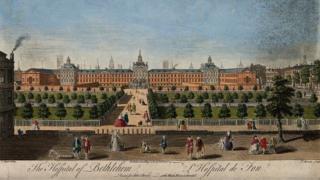 Historical image of Bethlem Hospital