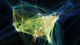 《飛機航班線路圖》