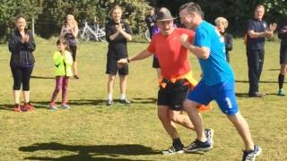 Parkrun delight for curtain who recovered from dual strokes