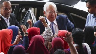 Najib Razak arrives at Kuala Lumpur High Court, Malaysia, 3 April 2019