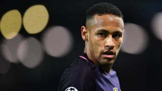 Neymar of Barcelona looks on during the UEFA Champions League Group C match