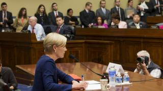 Cecile Richards testifies on Capitol Hill for Planned Parenthood on 29 September 2015