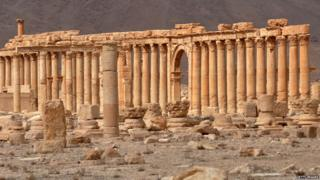 Palmyra's Great Colonnade