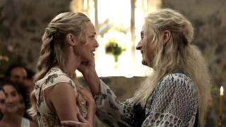 Amanda Seyfried and Meryl Streep in a scene from the Mamma Mia! Here We Go Again trailer