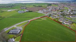 An aerial view of the Rivenwood site outside Newtownards which has been earmarked for 1,000 homes