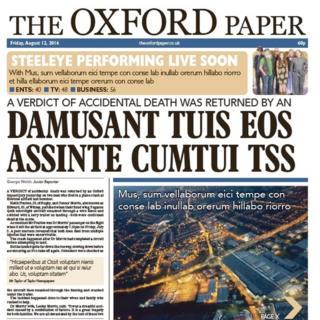 Oxford Paper mock up