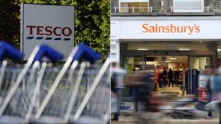 Tesco and Sainsbury's