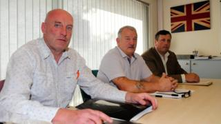 Robin Stewart, Jim Wilson and David Campbell