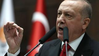 أردوغان بالضرب في أي مكان برا وجوا