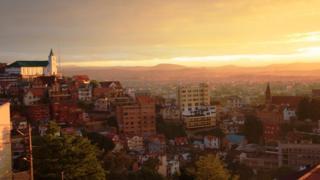 The rooftops of Madagascar's capital Antananarivo