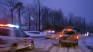 Emergency vehicles in winter
