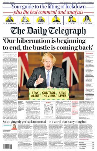 The Daily Telegraph portada 24.06.20