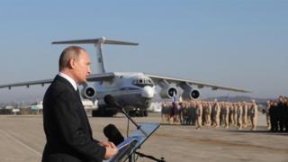 بوتين في قاعدة حميميم