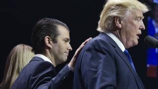 Трамп-младший и Дональд Трамп
