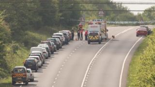 Search vehicles after Elton accident