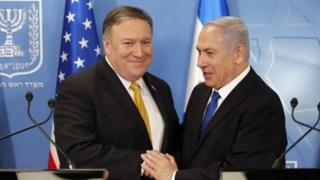 عکس از دیدار نتانیاهو و پومپئو در ماه آوریل سال گذشته