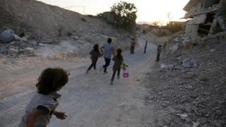 Children in Jobar, Damascus, Syria, file