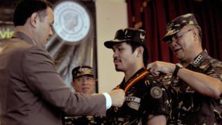 Manny Pacquiao a été promu colonel de l'armée des Philippines.