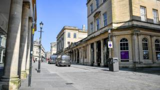 in_pictures Bath city centre, 24 March 2020