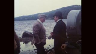 Billy Wilder, left, and cast member on the shores of Loch Ness in 1969