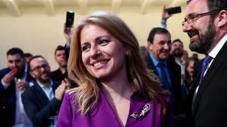 슬로바키아 첫 여성 대통령으로 선출된 주사나 카푸토바