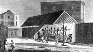 Treadmill at Brixton Prison, London, circa 1825