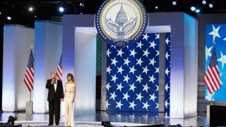 Donald e Melania Trump na posse