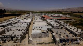 Лагерь беженцев из Сирии в Ливане