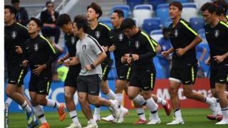 South Korea players