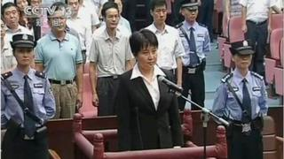 Gu Kailai in the dock during her trial in 2012