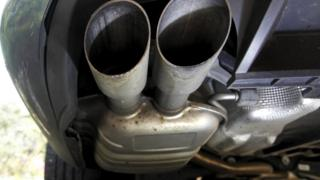 Exhaust of diesel car