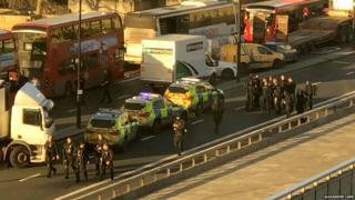 จุดเกิดเหตุบนสะพานลอนดอน