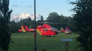 in_pictures Air ambulances in Reading