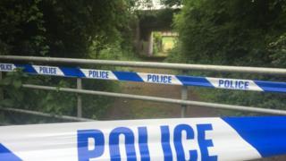 Cordon near accident scene
