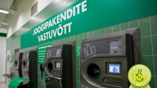 Drinks container deposit machine, Estonia