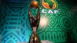Le trophée de la Ligue des champions d'Afrique
