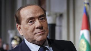 Silvio Berlusconi addresses the media after a meeting with Italian President Mattarella in Rome, Italy, 12 April 2018